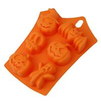 Halloween Pumpkin Ghost bat Chocolate Fondant Cake Mold Silicone Baking Tools SS