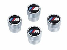 BMW Genuine M Logo Tire Valve Steam Cap Set, Caps NEW Original Set of 4