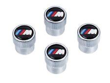 BMW Genuine M Logo Tire Valve Steam Cap Set, Caps NEW Original Set of 4