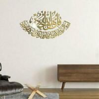 Muslim Fashion Islamic 3D Acrylic Mirror Wall Stickers Art Wall Decor Home X2L1
