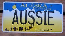 "ALASKA VANITY License Plate "" AUSSIE "" AUSTRALIA TAS TAZ MELBOURNE SYDNEY PERTH"