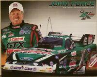 2012 Signed John Force NHRA Handout 16x Champ Castrol GTX 8 x 10 Free Shipping