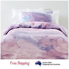 Single Bed Quilt Cover Set Pink Kids Bedding Bedspread Girls Boys Room Dreams