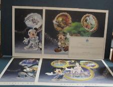 Walt Disney World 4-Park Lithos - Lithograph with Mickey Coa