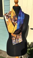 100% pure silk scarf (Van Gogh 'cafe scene')Xmas/gift wrapping available160x42cm
