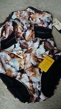 Nwt Gottex Profile Sport 1pc swimwear sz16 ret.$108.00 fabric made Italy Eco tag
