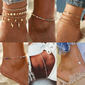 Charm Fashion Women Bead Chain Anklet Ankle Bracelet Bangle Barefoot Jewelry NEW