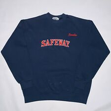SAFEWAY Grocery Store Sweater Size Medium Embroidered Employee Vintage FLAWED