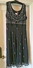 Simply B Beaded Black Dress UK Plus Size 26 28