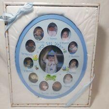 Baby Essentials My First Year Picture Frame Blue Baby Boy