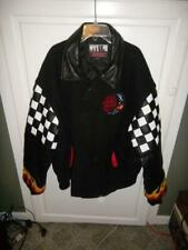 Mac Tools Indentity Jacket Checkered Flag Flames Leather Size XL NICE