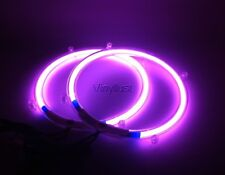 10 Inch Purple Neon Speaker Rings w Music Dancer Subwoofer Glow Car Light Kit