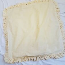Laura Ashley Euro Pillow Sham Ruffle Yellow White Print Made Usa Revman Cotton