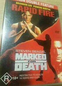 Rapid Fire DVD + Marked For Death (2 Movies) Brandon Lee - Rare Movie - AUS R4