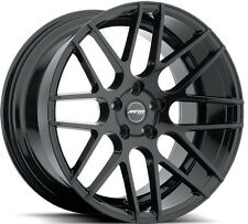 "19"" GROUND FORCE GF7 BLACK WHEELS RIMS SET FOR HYUNDAI GENESIS COUPE"