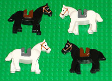 LEGO Minifigures Horses Lot Western Castle 4 Lego Horse Minifigs With Saddles