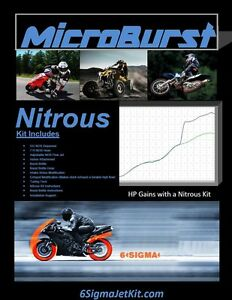 Suzuki DR125 SM SE Performance Intake NOS Nitrous Oxide Kit & Boost Bottle