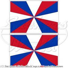 NETHERLANDS NAVY Naval Jack Koninklijke Marine Flag Dutch 100mm Sticker-Decal x2