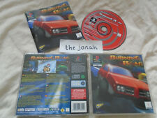 Burning Road PS1 (COMPLETE) black label Sony Playstation rare