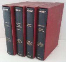 « Prévert », l'œuvre intégrale en 4 coffrets volumes reliés illustrés par Folon