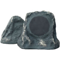 Sound Appeal Free Rok Outdoor Speakers (Pair) 100 Ft Wireless Range, Grey Slate