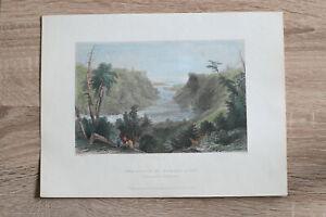 1837 Bartlett print OUTLET OF NIAGARA RIVER (#6)