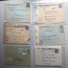 72 Belege Deutsche Post Ziffern - sehr viel top Material - Destination USA