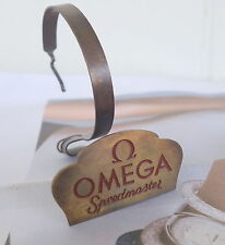 Vintage OMEGA Speedmaster Watch Stand in Brass, SWISS, Authorised Dealer Only