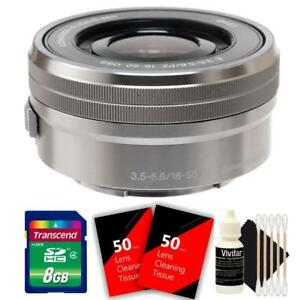 Sony E PZ 16-50mm F/3.5-5.6mm OSS Lens Silver with Accessories