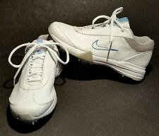 Nike Air Golf Shoes 040810 Ln2 Size 7 White Blue Gray