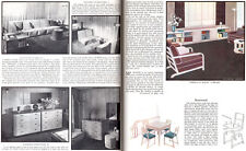 Gilbert Rhode American Modernism Furniture Design BENTWOOD 1935 Magazine Article