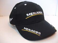 Menards 15 Paul Menard Nascar Racing Hat Black Hook Loop Baseball Cap
