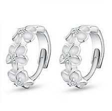 Fashion  S925 Silver Cubic Zirconia Rhinestone Ear Stud Earrings Hoop earrings