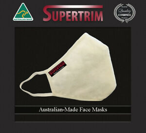 5-PACK Face Masks Australian-Made 3-Layers of Protection (Re-usable & washable)