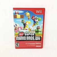 Super Mario Bros (Wii, 2009) Nintendo Wii Action Adventure Video Game Case Game