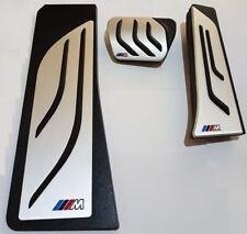 BMW F01 F07 F12 F10 F11 X3 F25 M-Pedalen SET// kein BOHREN! NEU! + Fußstütze!