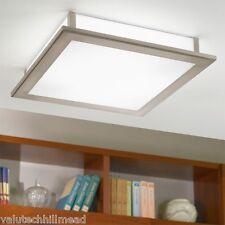 Eglo Auriga 1 Light Flush Ceiling Light - Chrome/White