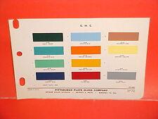 1962 GMC PICKUP TRUCK SUBURBAN STAKE CAB PANEL DELIVERY HANDI VAN PAINT CHIPS 62