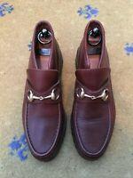 Gucci Womens Shoes Brown Horsebit Loafers UK 5.5 US 8.5 EU 38.5 Ladies Booties
