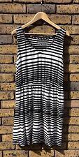 Size XL Merona Black & White Striped Slouch Dress