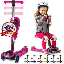 Patineta Scooter Para Niños Con Asiento Plegable Seat Scooter For Boys Girls New