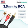 """3.5mm Audio to 2 RCA Cable Aux Stereo Car 1/8"""" Sound Cord Wire Male Y Splitter"""