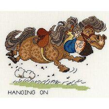 A BEAUTIFUL HORSE FAMILY cross stitch kit 14 ct size 61 x 44 cm Joy Sunday BNIP