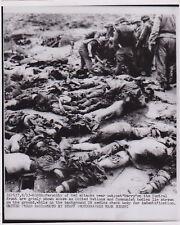 HANK EGOSHI: KOREAN WAR Dead Communist & U.N. Bodies * VINTAGE 1953 press photo