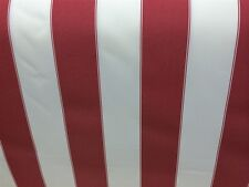 Red / White Striped Outdoor Fabric  (Sold By The Yard)