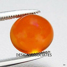 MEXICAN FIRE OPAL 10 MM ROUND CUT CABOCHON ALL NATURAL BEAUTIFUL COLOR
