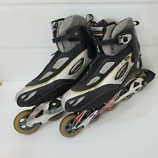 Rollerblade Lightning 05 Inline Skates Mens Size 12.5 Black Silver 82mm 5 WHEELS