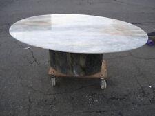Marmortisch Wohnzimmertisch Tisch Oval Marmor