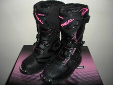ONeal Rider Motocross Boots Youth Pink Size 2 ATV Dirt Bike Off Road Moto Kids