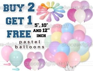 """100 Quality Pastel Finish 5"""" 10"""" 12"""" Ballons Small Round Latex Easter Balloons"""